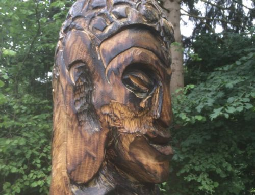 Buddhistisk inspireret totem
