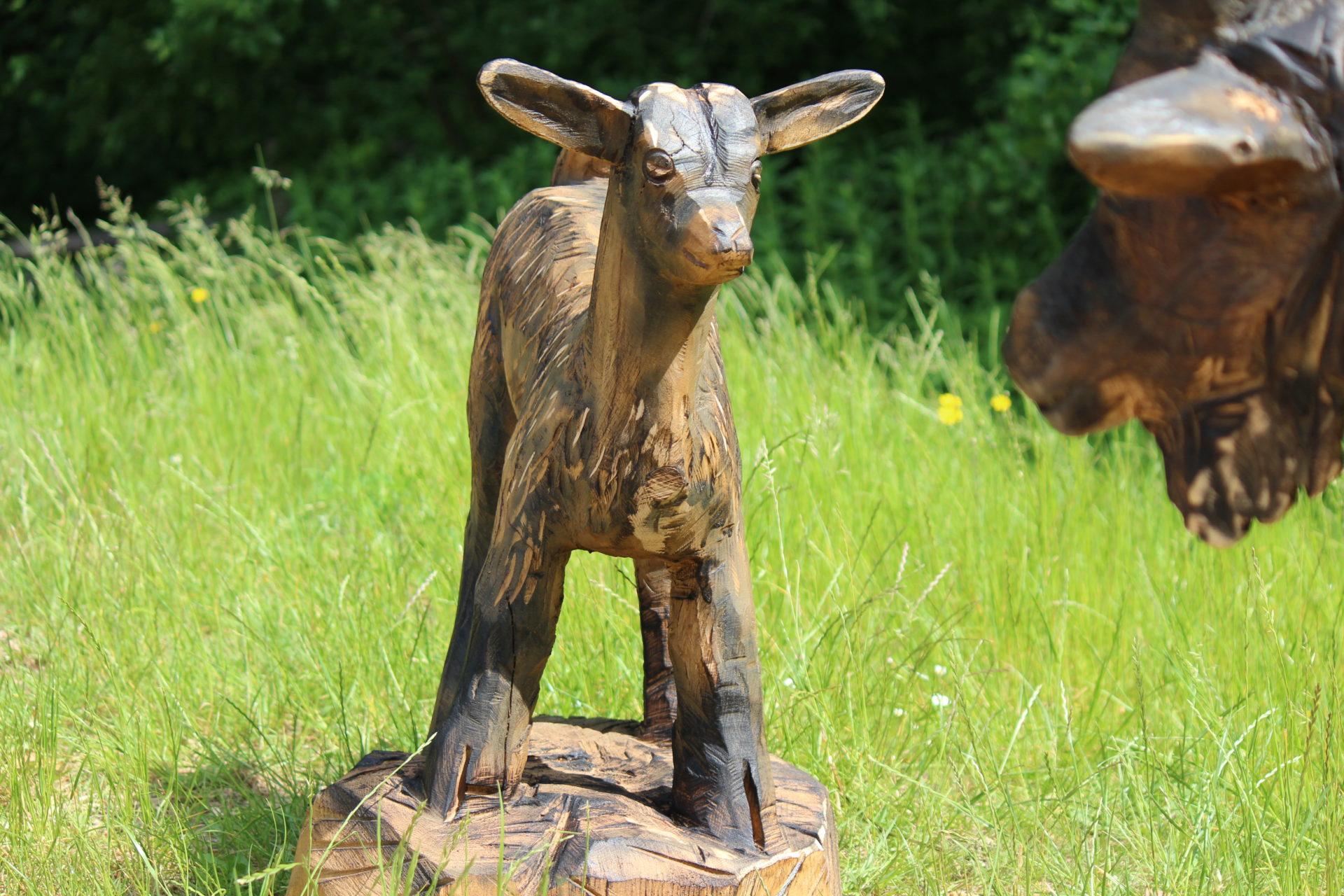 Husdyr - Træskulpturer til Den Fynske Landsby