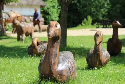 Gæs - Træskulpturer til Den Fynske Landsby